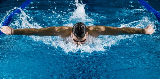 Man Swiming